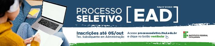 Processo Seletivo EAD Edital 127/2021